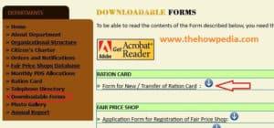 Sikkim Ration Card