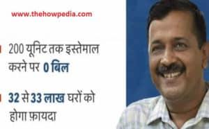 free electricity supply delhi