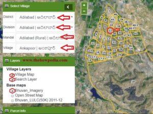 Bhunaksha Telangana Cadastral Map Land Records